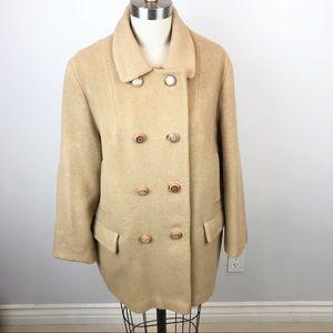 Vintage CFC 100% Camel Hair Pea Coat Union Made